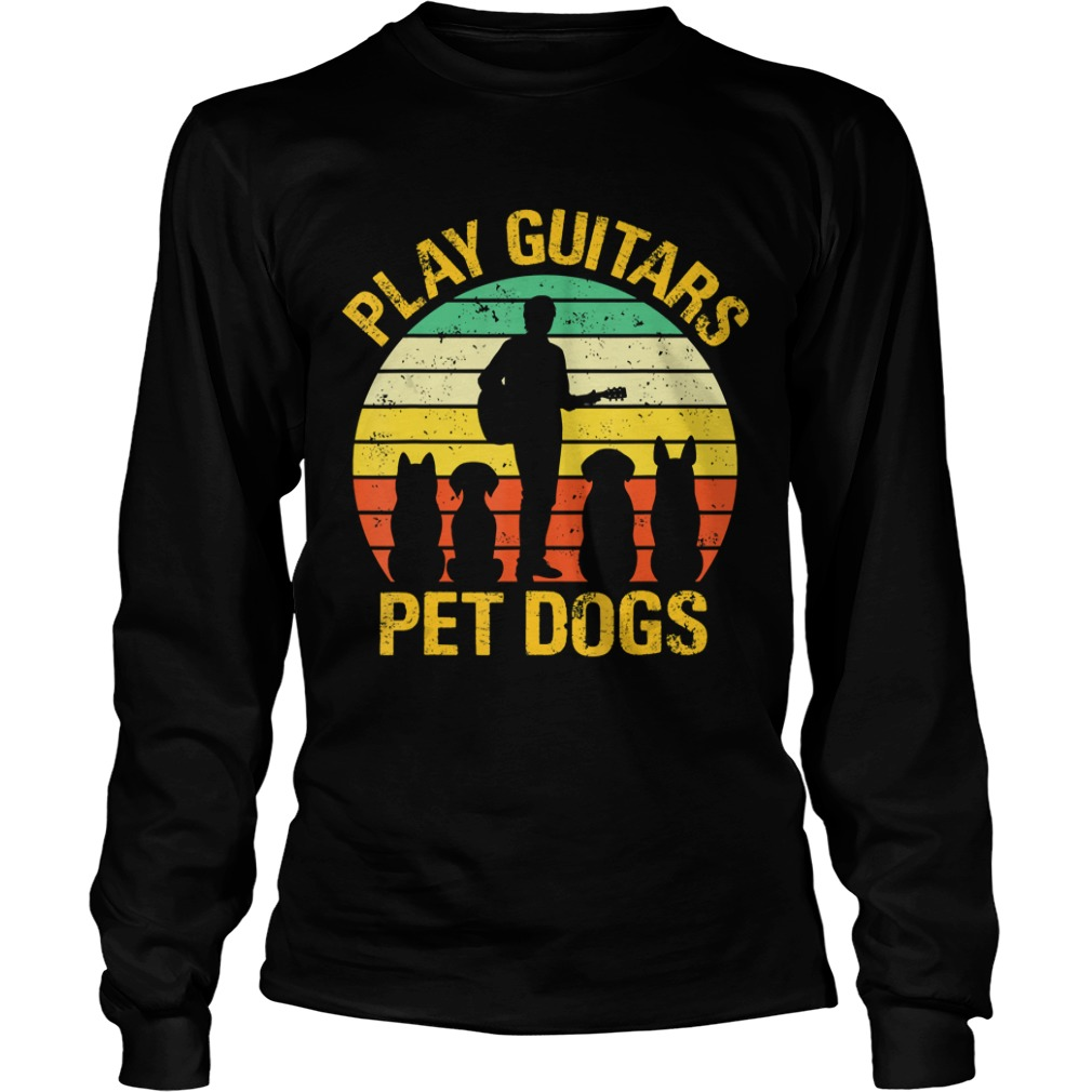 vintage Play guitars pet dogsTShirt LongSleeve