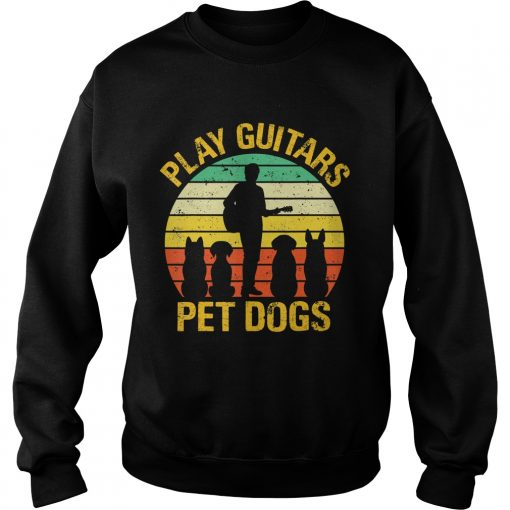 vintage Play guitars pet dogsTShirt Sweatshirt