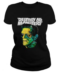 Awesome Vintage Frankenstein Halloween Party Horror Movie  Classic Ladies