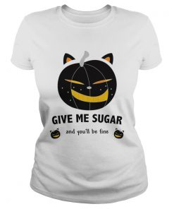 Cat as a pumpkin Womens Rolled TShirt Classic Ladies