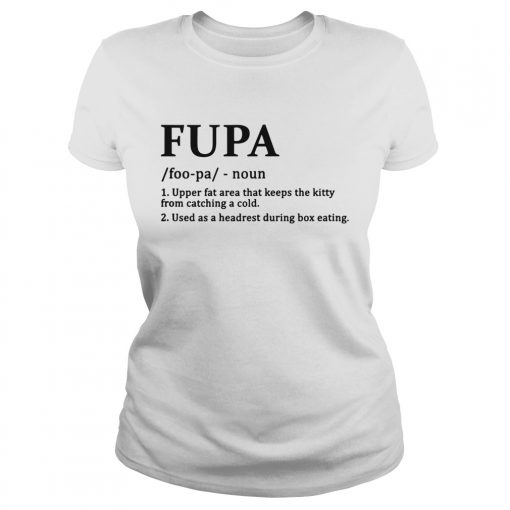 Fupa Definition Funny Shirt Classic Ladies