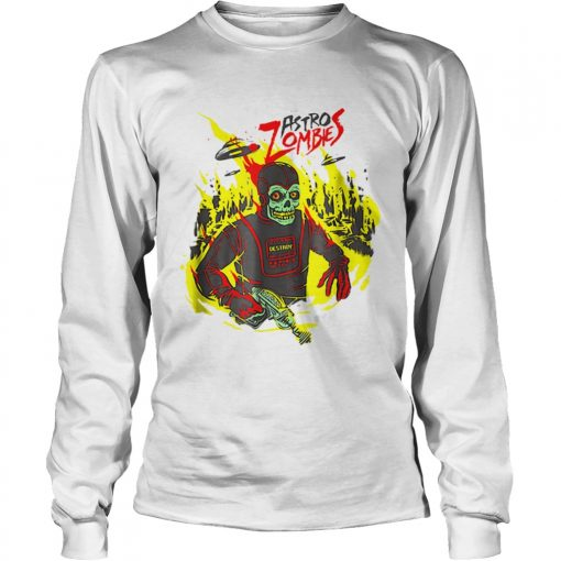 Halloween Astro Zombies Monster Scifi Gift Skate  LongSleeve