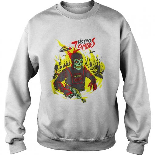 Halloween Astro Zombies Monster Scifi Gift Skate  Sweatshirt