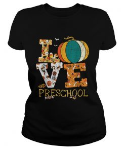Halloween Love Preschool Pumpkin Teacher  Classic Ladies