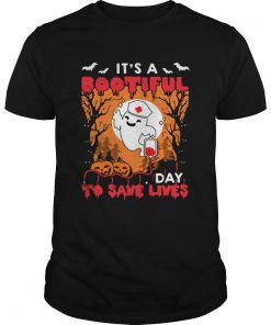 Halloween Nurse Its A Bootiful Day To Save Lives TShirt Unisex
