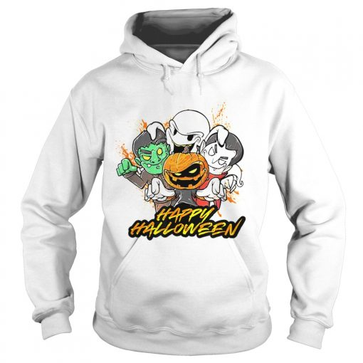 Halloween Pumpkin Face Vampire Ghost Frankenstein  Hoodie