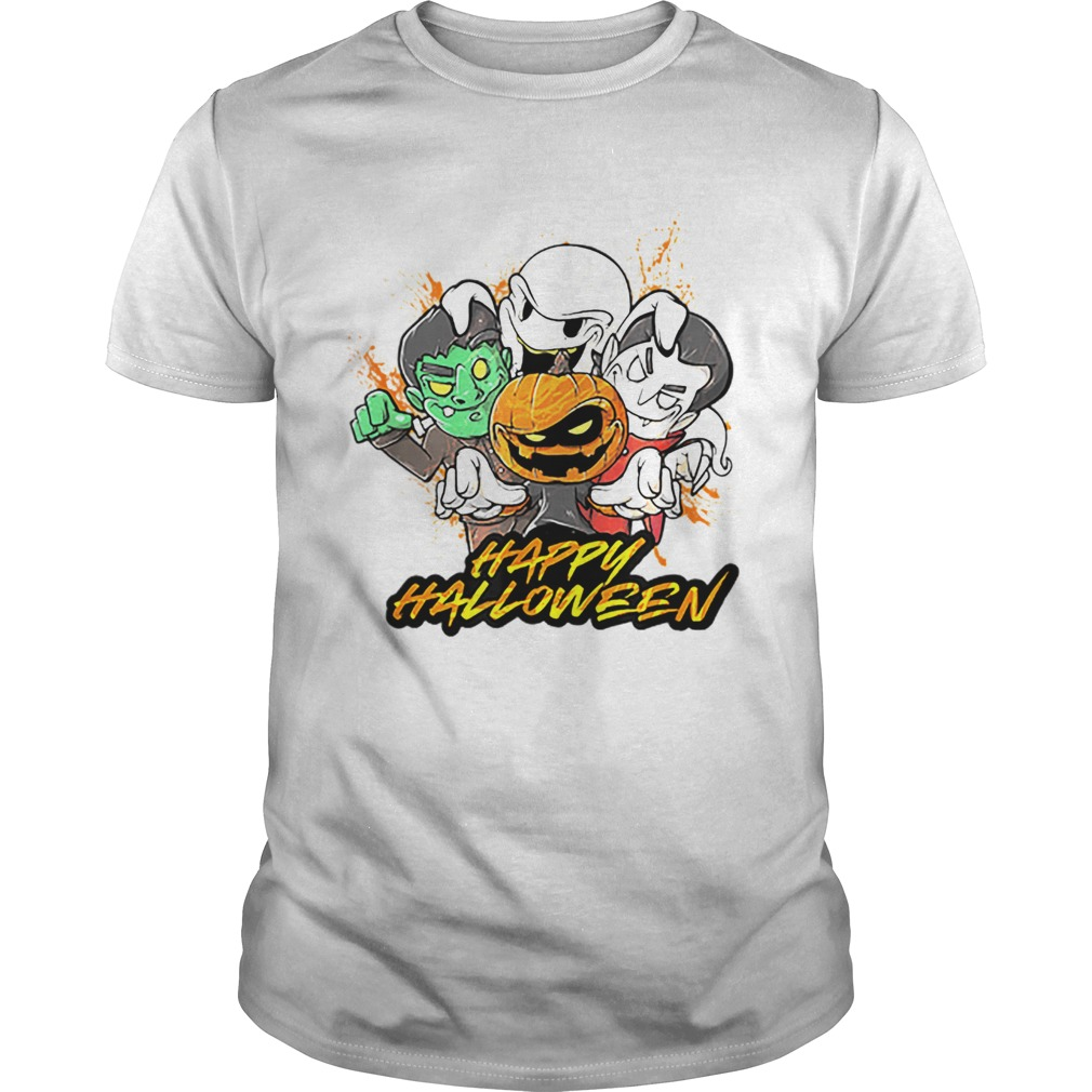 Halloween Pumpkin Face Vampire Ghost Frankenstein Unisex