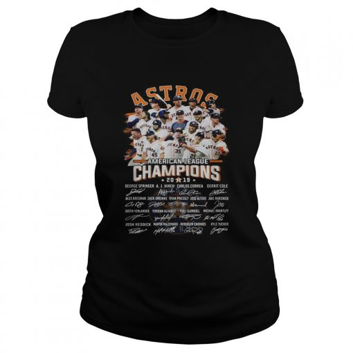Houston Astros American league Champions 2019 signature  Classic Ladies