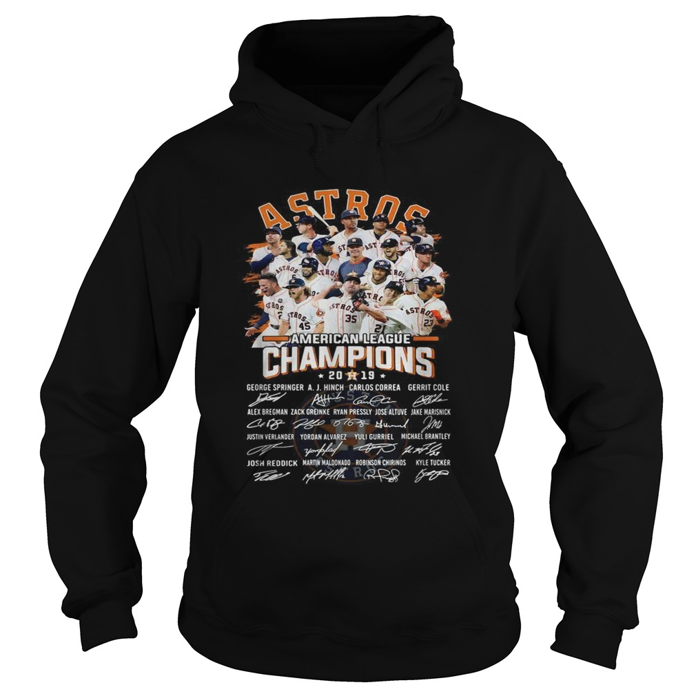 Houston Astros American league Champions 2019 signature Hoodie