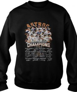 Houston Astros American league Champions 2019 signature  Sweatshirt