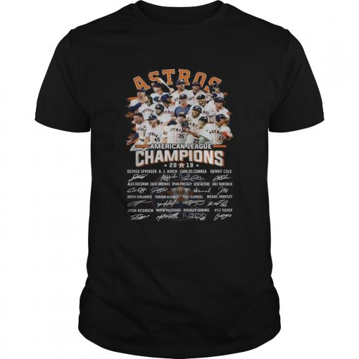 Houston Astros American league Champions 2019 signature  Unisex