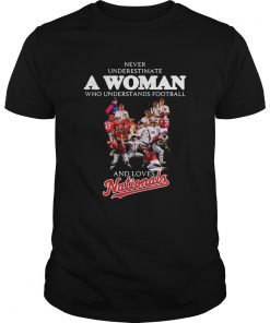 Never underestimate a woman who understands football and loves Washington Nationals  Unisex
