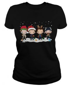 Supernatural santa chibi Christmas T Classic Ladies