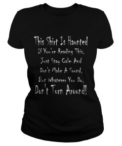 This Is Haunted Ghostly Halloween Design  Classic Ladies