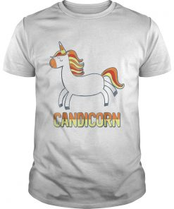 Top Cute Candicorn Halloween Candy Corn Unicorn  Unisex