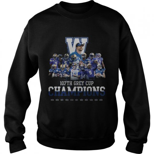 107th Grey Cup Blue Bombers Champions  Sweatshirt