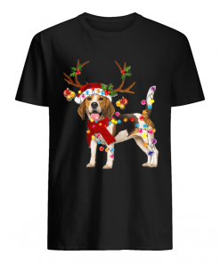 Beagle Gorgeous Reindeer Crewneck Christmas  Classic Men's T-shirt