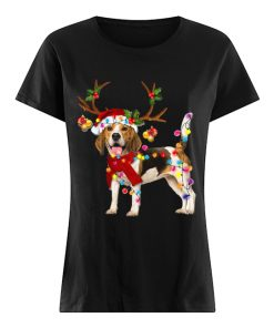 Beagle Gorgeous Reindeer Crewneck Christmas  Classic Women's T-shirt