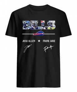 Buffalo Bills Josh Allen Frank Gore signatures  Classic Men's T-shirt