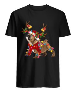 Bulldog Gorgeous Reindeer Crewneck Christmas  Classic Men's T-shirt