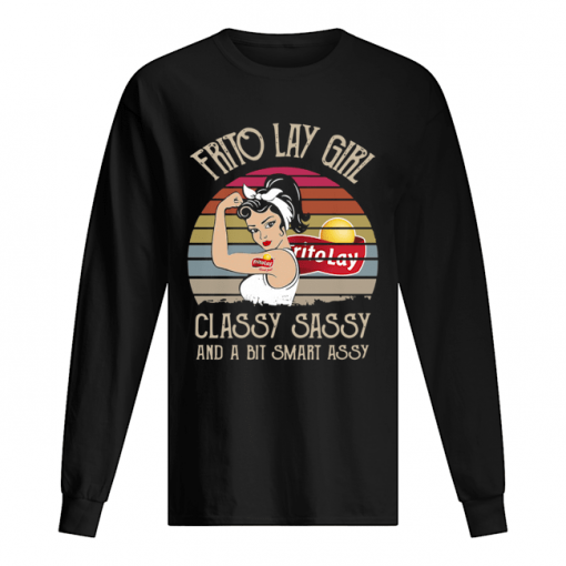 Frito Lay Girl Classy Sassy And A Bit Smart Assy Vintage Retro  Long Sleeved T-shirt