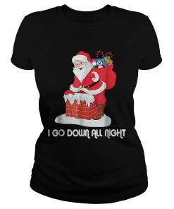 I Go Down All Night Crude Dirty Funny Christmas Santa  Classic Ladies