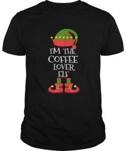 M THE Coffee Lover ELF Christmas Xmas Elf Group Costume  Unisex