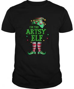 Nice Family Matching Funny Christmas Group gift Im The Artsy Elf  Unisex
