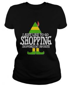 Nice I Just Like To Go Shopping My Favorite Christmas  Classic Ladies