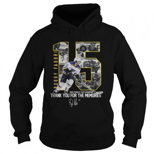 Robby Fabbri 2019 Stanley Cup Champion Thank you for the memories Signature  Hoodie