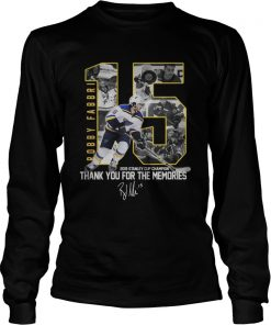 Robby Fabbri 2019 Stanley Cup Champion Thank you for the memories Signature  LongSleeve