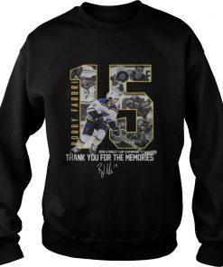 Robby Fabbri 2019 Stanley Cup Champion Thank you for the memories Signature  Sweatshirt