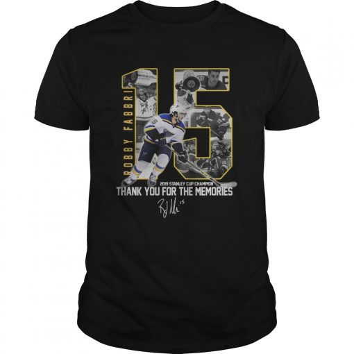Robby Fabbri 2019 Stanley Cup Champion Thank you for the memories Signature  Unisex
