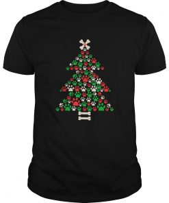 Christmas Tree Made Of Bones And Paw Prints  Unisex