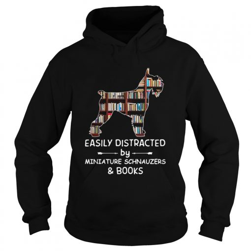 Distracted By Miniature Schnauzers And Books Crewneck  Hoodie