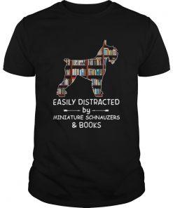 Distracted By Miniature Schnauzers And Books Crewneck  Unisex