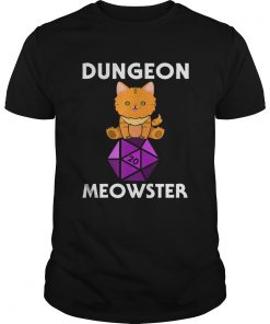 Dungeon Meowster Nerdy Cat D20  Unisex