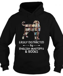 Easily Distracted By English Mastiffs And Books Crewneck  Hoodie
