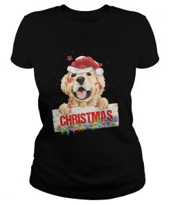 Golden Dog Christmas  Classic Ladies