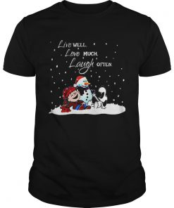 Snoopy Charlie Brown Live well love much laugh often Christmas  Unisex