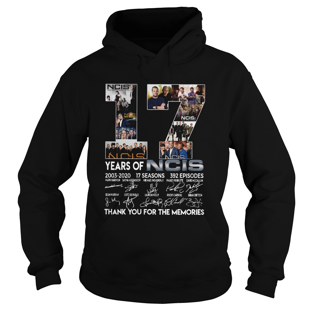 17 Years Of NCIS Thank You For The Memories  Hoodie