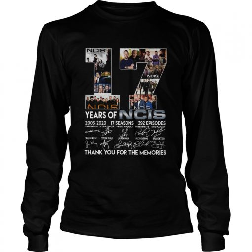 17 Years Of NCIS Thank You For The Memories  LongSleeve