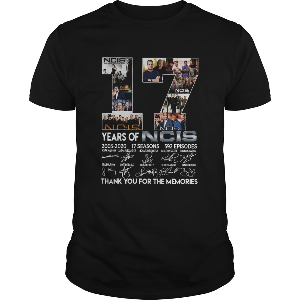 17 Years Of NCIS Thank You For The Memories  Unisex
