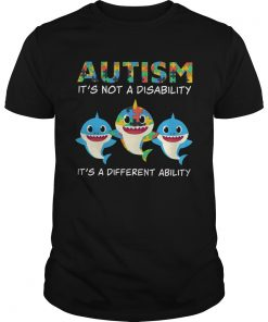 Baby Sharks Autism its not a disability its a different ability  Unisex
