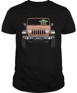 Baby Yoda Driving Jeep  Unisex