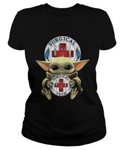 Baby Yoda Hug Surgical Tech  Classic Ladies