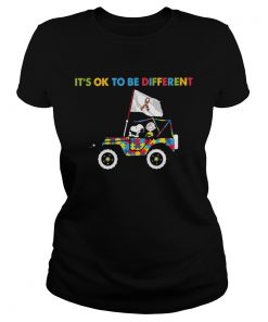 Snoopy And Charlie Brown Driving Autism Its Ok to Be Different  Classic Ladies