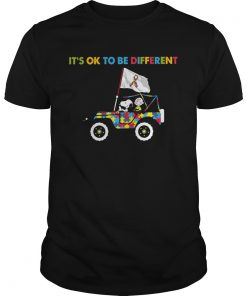 Snoopy And Charlie Brown Driving Autism Its Ok to Be Different  Unisex