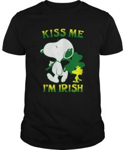 Snoopy And Woodstock Kiss Me Im Irish  Unisex