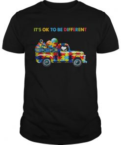 Snoopy driving Autism its ok to be different  Unisex